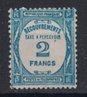 TIMBRE TAXE N° 61 NEUF * TB / 2F BLEU / COTE 100€ - Taxes
