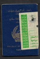 AFGHANISTAN EXPIRED PASSPORT SAUDI ARABIA AND PAKISTAN VISA ON PASSPORT BLUE PASSPORT - Afghanistan