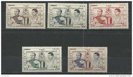 "Cambodge YT 52 à 56 "" Couronnement "" 1955 Neuf* - Cambodia"