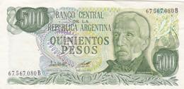QUINIENTOS PESOS ARGENTINE SAN MARTIN CIRCA 1980s-BILLETE BANKNOTE BILLET NOTA-BLEUP - Argentina