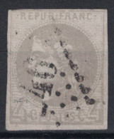 TIMBRE BORDEAUX N° 41 SANS PLI NI AMINCI OBLITERATION GC (COTE MINI 325€ - NUANCE GRIS-LILAS ? ) - 1870 Bordeaux Printing