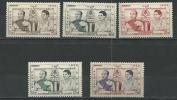 "Cambodge YT 52 à 56 "" Couronnement "" 1955 Neuf** - Cambodia"