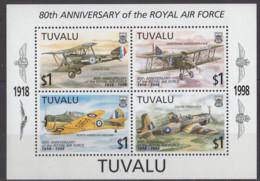 TUVALU - 75e Anniversaire De La RAF Feuillet - Tuvalu
