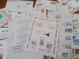 Lot N° 455  FRANCE ,théme Concorde  Un Lot De 76 Enveloppes Commemo       / No Paypal - Collections (en Albums)