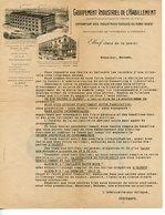 BELLE LETTRE COMMERCIALE DECOREE RECTO-VERSO GROUPEMENT INDUSTRIEL DE L'HABILLEMENT A ELBEUF VERS 1930 - Textile & Clothing