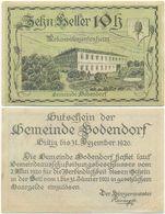 Bodendorf, 1 Schein Notgeld 1920, Rekonvaleszentenheim, Österreich 10 Heller - Oesterreich