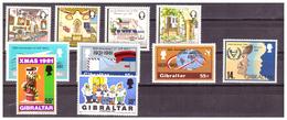 GIBRALTAR -  1981 - SELECTION OF STAMPS. - MNH** - Gibraltar
