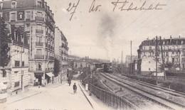 ASNIERES AVENUE FLACHAT ET LA GARE TRAIN, LOCOMOTIVE  ACHAT IMMEDIAT - Asnieres Sur Seine