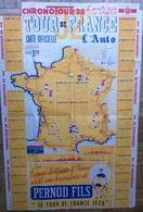 """CP -  CYCLISME- CICLISMO  -AFFICHES  CARTE - GUIDE - TOUR DE FRANCE 1938 (édité Par Le Journal """" L'Auto"""") - Cyclisme"""
