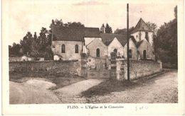 FLINS ... L EGLISE ET LE CIMETIERE - France
