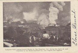 18 April 1906 San Francisco - Lafayette Park  , Loocking Toward Marketst. - Disasters