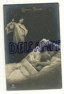 Bonne Année. Petite Fille Qui Dort Et Poupée, Ange Gardien Photo Montage 1913. Surréalisme - Anges