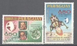 Paraguay 1969 Yvert 1020-21, First Man On The Moon - MNH - Paraguay
