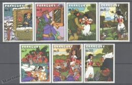Paraguay 1978 Yvert 1668-74, Snow White & The 7 Dwarves - MNH - Paraguay