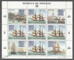 Paraguay 1984 Yvert 2168, Mophila '85, Philatelic Exposition, Ships - Sheetlet - MNH - Paraguay