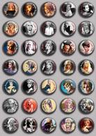 Brigitte Bardot Movie Film Fan ART BADGE BUTTON PIN SET 2 (1inch/25mm Diameter) 35 DIFF - Films