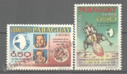 Paraguay 1969 Yvert Airmail 525-26, First Man On The Moon - MNH - Paraguay