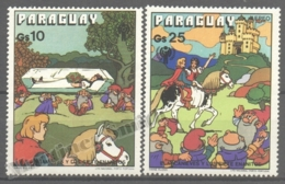 Paraguay 1978 Yvert Airmail 809-10, Snow White & The 7 Dwarves - MNH - Paraguay