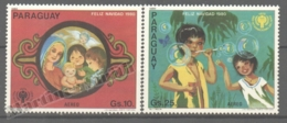 Paraguay 1980 Yvert Airmail 841-42, Christmas And Int. Year Of The Children - MNH - Paraguay