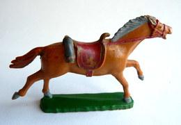 FIGURINE STARLUX CHEVAL Luxe FAR WEST III COWBOY -  BEIGE ORANGE (1) QUEUE RESTAUREE - Starlux