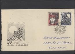 CZECHOSLOVAKIA Brief Postal History Envelope CS 285 World War Two Lidice Lezaky Tragedy - Czechoslovakia