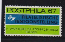 Postphila 1967, Stamp-exposition, MNH (not A Real Stamp) - Cinderellas