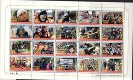 PAKISTAN, 2018, MNH, KASHMIR MARTYRS,  MILITARY, SOLDIERS, SHEETLET OF 20v (FOLDED) - History