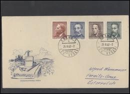 CZECHOSLOVAKIA Brief Postal History Envelope CS 286 Personalities Writers Composers Music Women - Czechoslovakia