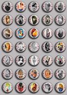 Brigitte Bardot Movie Film Fan ART BADGE BUTTON PIN SET 6 (1inch/25mm Diameter) 35 DIFF - Films