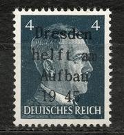 Germany 1945 Lokalausgabe Dresden Postfrisch - Zona Sovietica