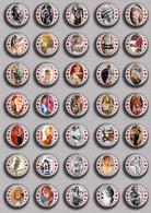 Brigitte Bardot Movie Film Fan ART BADGE BUTTON PIN SET 7 (1inch/25mm Diameter) 35 DIFF - Films