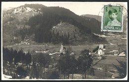 Romania / Hungary - Transylvania: Gyergyótölgyes (Tulghes), View From The Catholic Church And The Orthodox Church 1929 - Romania