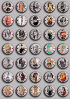 Brigitte Bardot Movie Film Fan ART BADGE BUTTON PIN SET 8 (1inch/25mm Diameter) 35 DIFF - Films
