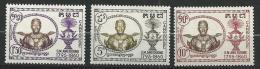 "Cambodge YT 72 à 74 "" Roi Ang-Duong "" 1958 Neuf** - Cambodia"