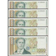 TWN - BULGARIA 105b - 1000 1.000 Leva 1997 DEALERS LOT X 5 - Prefix БA UNC - Bulgaria