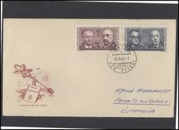 CZECHOSLOVAKIA Brief Postal History Envelope CS 288 Mathematician Personalities Logarithmic Tables - Czechoslovakia