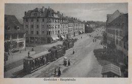 BIRSFELDEN → Hauptstrasse Mit 3 Tram Und Passanten Anno 1918  ►RRR◄ - BL Bâle-Campagne