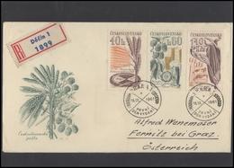 CZECHOSLOVAKIA Brief Postal History Envelope CS 291 292 Farming Agriculture - Czechoslovakia