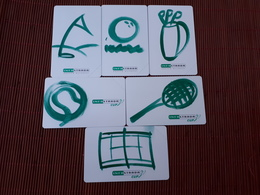 Set 6 Phonecards San Marino (Mint,Neuve) Only 15.000 Ex Made Rare - Saint-Marin