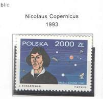 Polonia PO 1993 Copernico  Scott.3158+See Scan On Scott.Page; - 1944-.... Repubblica