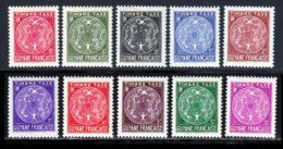 Guyane Taxe 1947 Yvert 22 / 31 * TB Charniere(s) - Unused Stamps