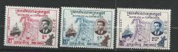 "Cambodge YT 84 à 86 "" Inauguration "" 1960 Neuf** - Cambodia"