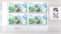 TP N° PA76 X 4  / COIN DATE DU 06.02.13 - Coins Datés