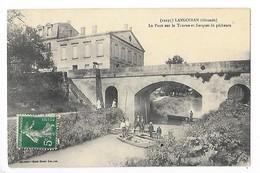 LANGOIRAN  (cpa 33)  Le Pont Sur Le Tourne Et Barques De Pêcheurs)   -  L 1 - France