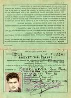 Carte Brevet Militaire Conduite Véhicules Automobiles. 1963. Scan Du Verso. - Documents