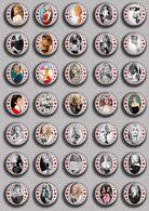 Brigitte Bardot Movie Film Fan ART BADGE BUTTON PIN SET 10 (1inch/25mm Diameter) 35 DIFF - Films