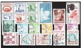 ECK1029 SCHWEDEN 1985 Michl 1342/50 + 1354/63 Gestempelt SIEHE ABBILDUNG - Schweden