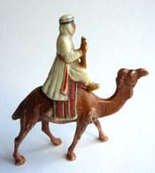 FIGURINE CLAIRET ZOO 49 MEHARISTE ET DROMADAIRE 1954 Bout Du Fusil Cassé - Figurines