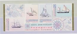 AUSTRALIE 1 Bloc Feuillet  Neuf Xx - 1992  - 500 Ans Découverte Amérique Christophe Colomb Bateaux Voiliers - Blocks & Sheetlets