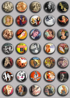 Brigitte Bardot Movie Film Fan ART BADGE BUTTON PIN SET 11 (1inch/25mm Diameter) 35 DIFF - Films